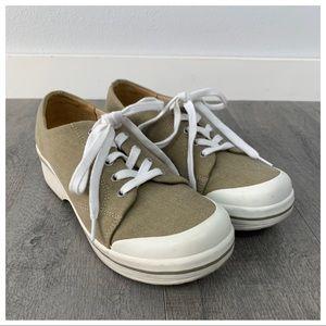 Dansko Tan Veda Vegan Canvas Platform Sneakers